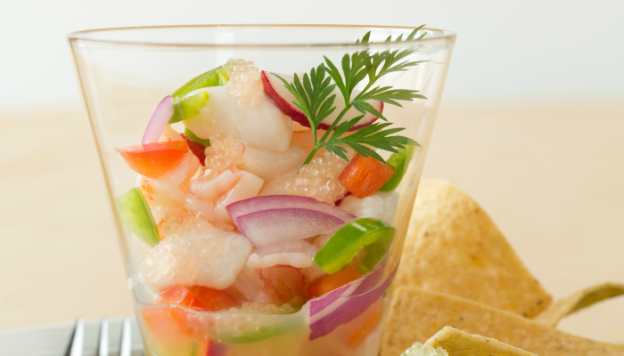 Ceviche with Citriburst Finger Limes