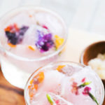 Elderflower Cordial with Dandelion Tonic and Citriburst Ice Cubes
