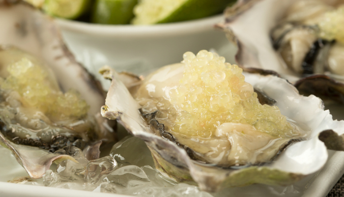 Oysters with Citriburst Finger Limes