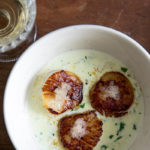 Seared Scallops with Tarragon Finger Lime Beurre Blanc